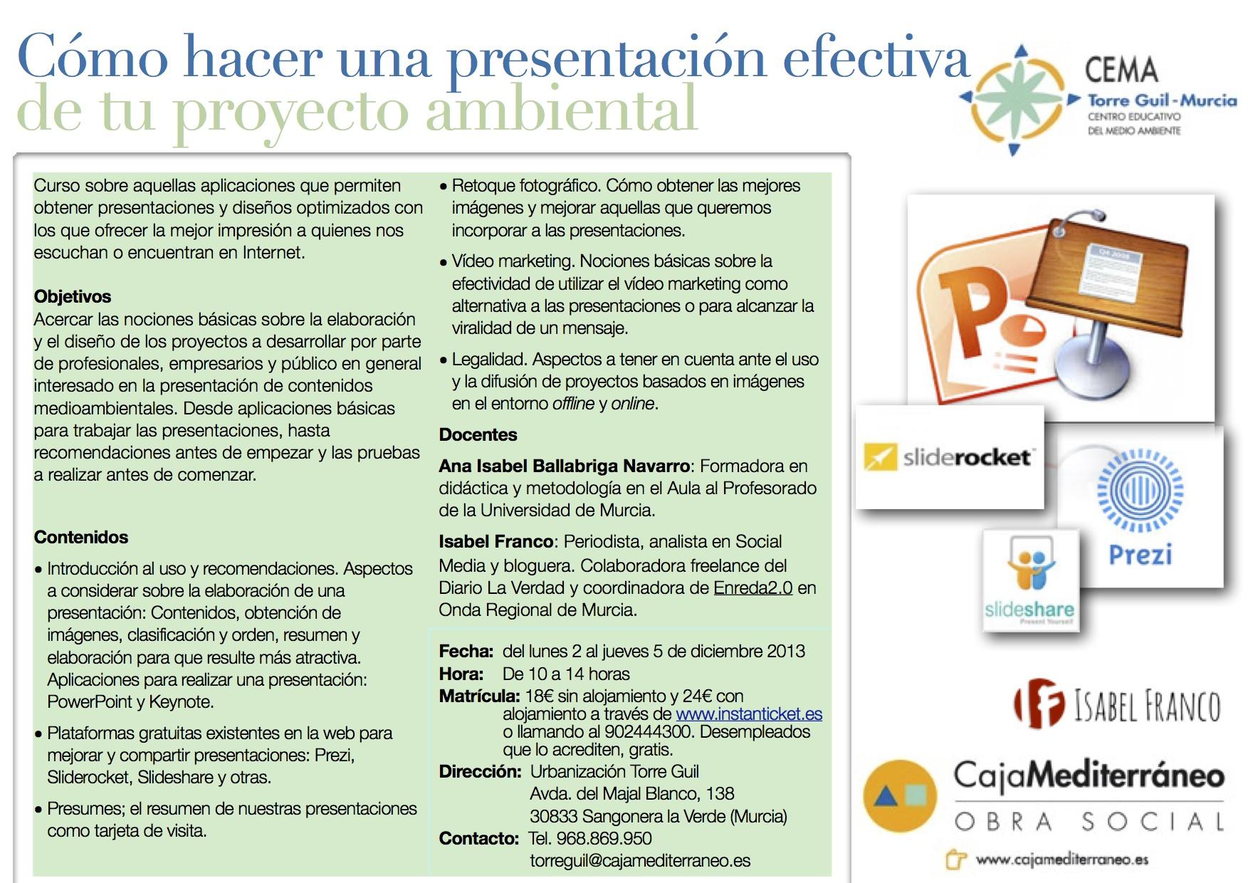 formación gratuita presentación proyecto ambiental