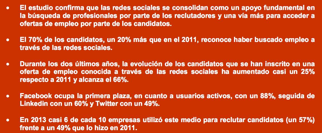 Redes sociales mercado trabajo España