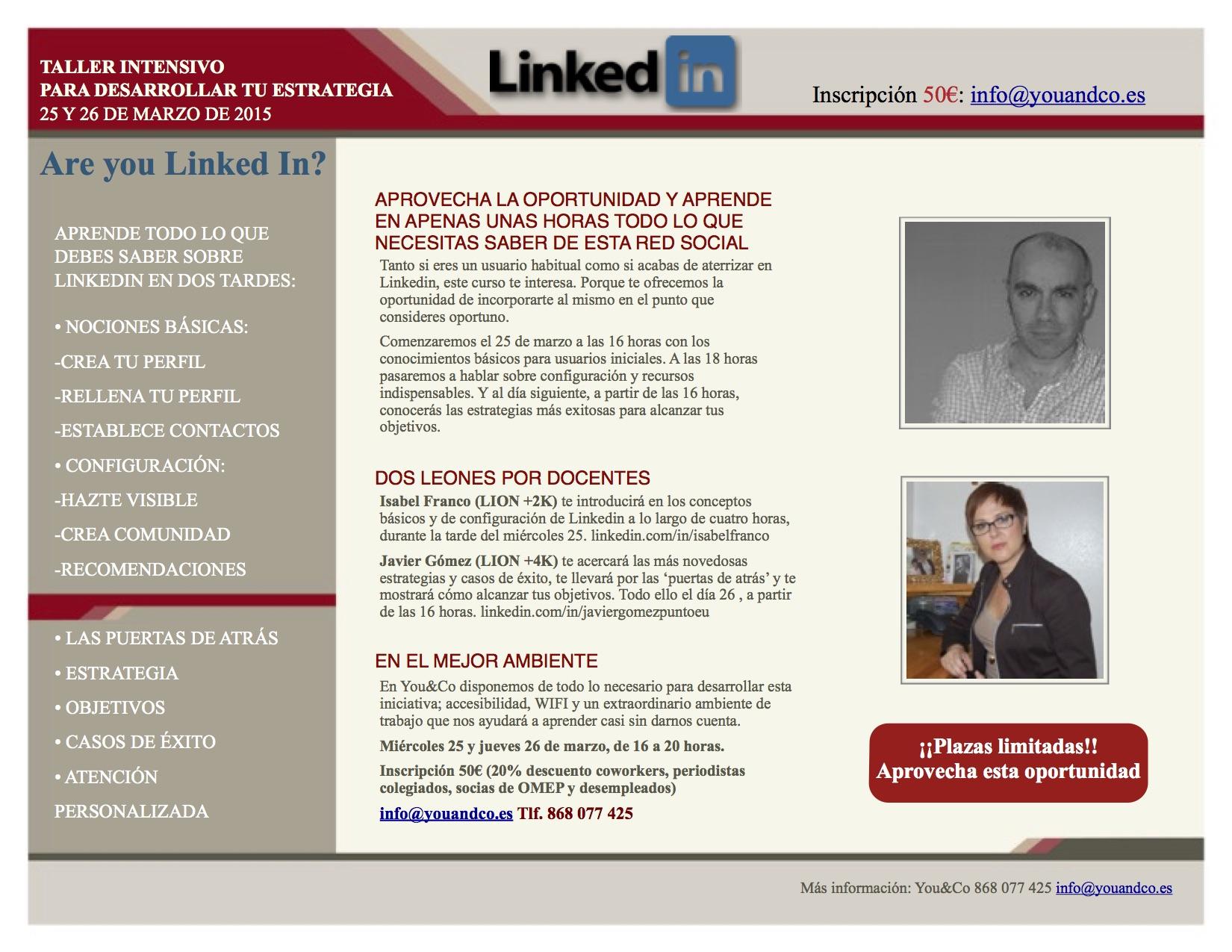 Curso intensivo de Linkedin en You&Co