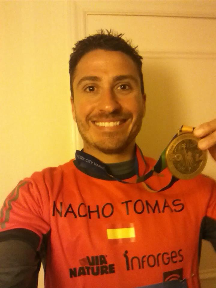Nacho Tomás en la Maratón de Nueva York 2014
